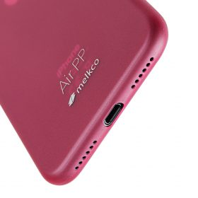 Melkco Air PP Case for Apple iPhone X – (Transparent Red)