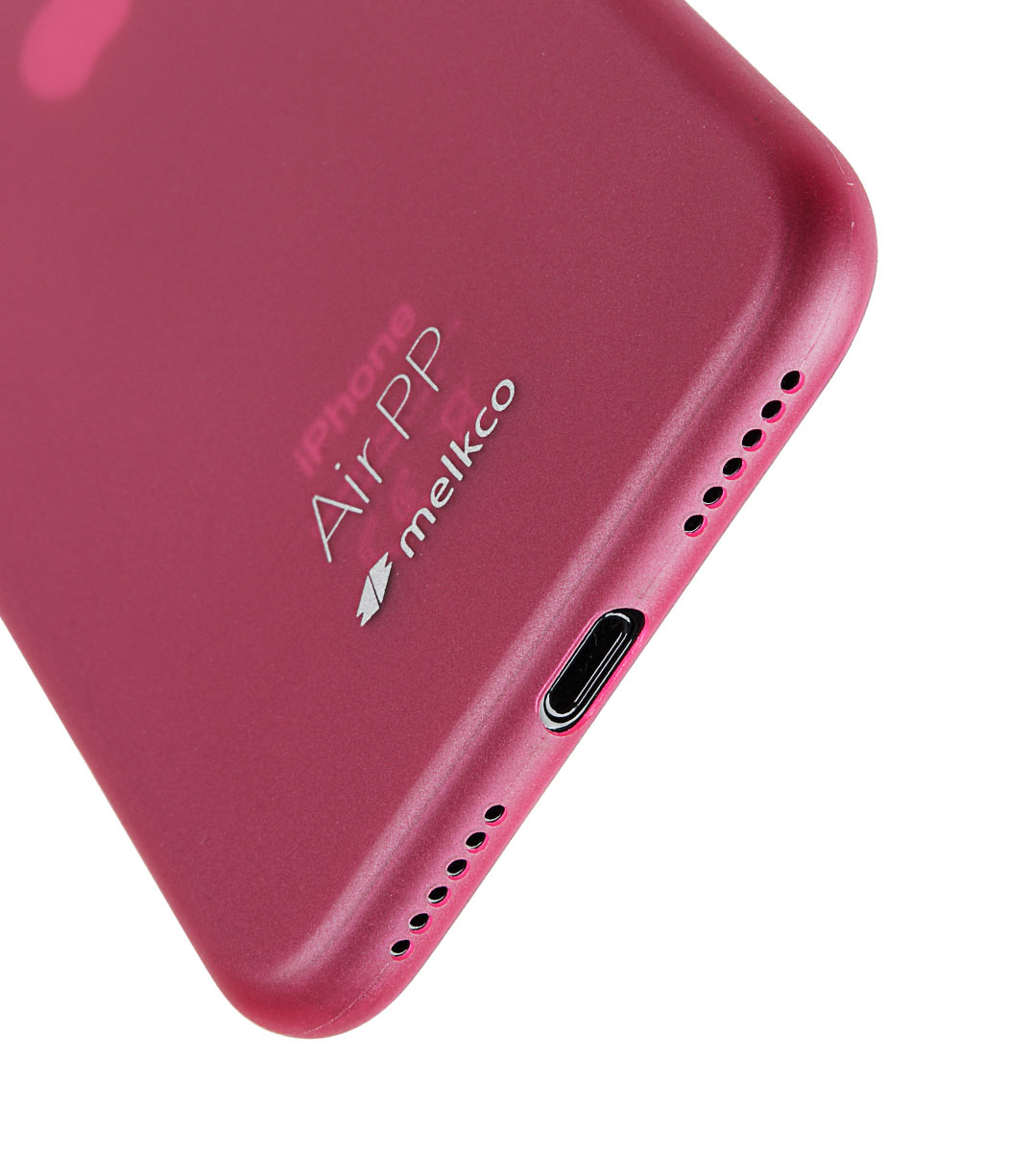 Melkco Air PP Case for Apple iPhone X - (Transparent Red)