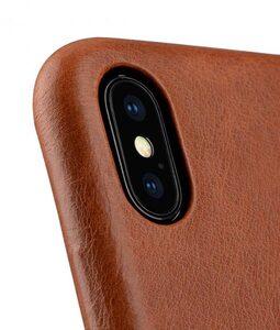 Melkco Elite Series Waxfall Pattern Premium Leather Coaming Pocket Case for Apple iPhone X - (Tan WF)
