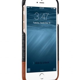 """Melkco Holmes Series Fine Grid Cloth Snap Cover Case for Apple iPhone 7 / 8 (4.7"""") – (Dark Grey / Brown)"""