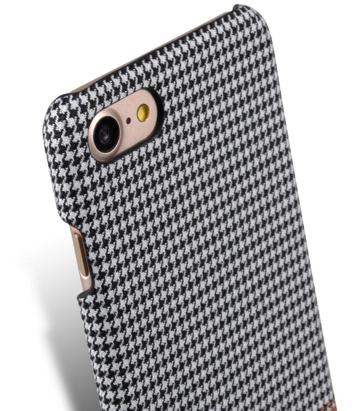 "Melkco Holmes Series Tobacco Cloth Snap Cover Case for Apple iPhone 7 / 8 (4.7"") - ( Grey / Brown )"
