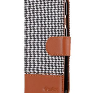 "Melkco Holmes Series Tobacco Cloth Wallet Book Style Case for Apple iPhone 7 / 8 (4.7"") - ( Grey / Brown )"
