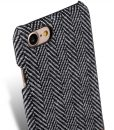 """Melkco Holmes Series Twill Cloth Snap Cover Case for Apple iPhone 7 / 8 (4.7"""") – ( Dark Grey / Brown )"""