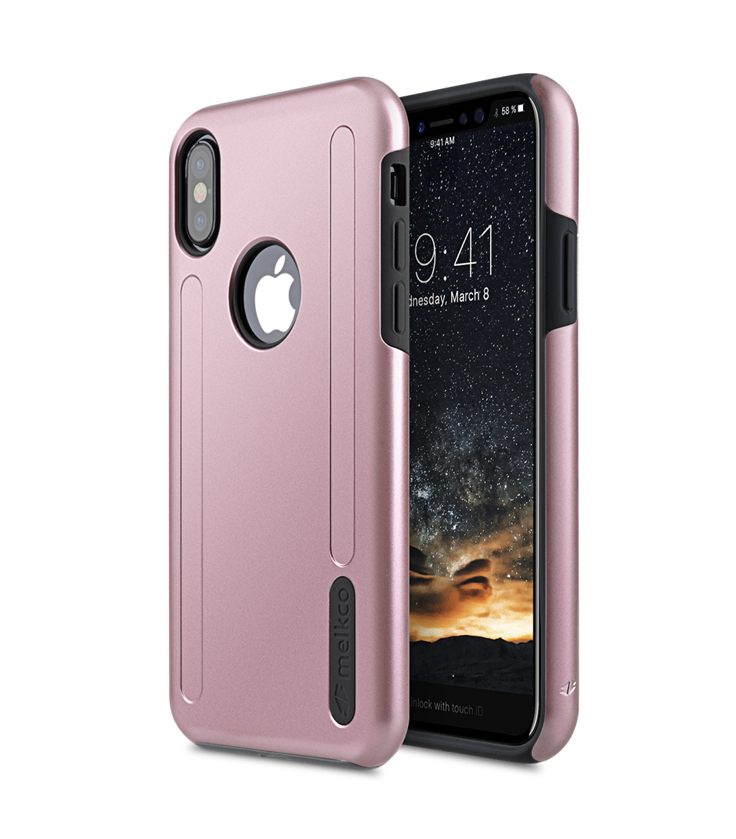 Melkco Kubalt Series Double Layer Pro Apple Logo Visible Case For IPhone X