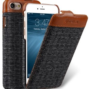 "PU Leather Holmes Series Find Grid Case for Apple iPhone 7 / 8 (4.7"") - Jacka Type (Dark Grey / Brown)"