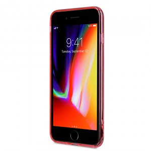 Melkco PolyUltima Case for Apple iPhone 8 Plus - (Transparent Red)