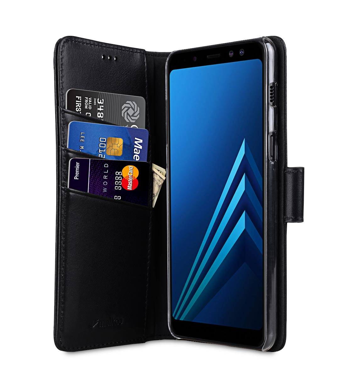 premium leather case for samsung galaxy a8 plus 2018. Black Bedroom Furniture Sets. Home Design Ideas