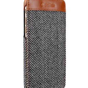"PU Leather Holmes Series Twill Jacka Type Case for Apple iPhone 7 / 8 (4.7"") - (Dark Grey / Brown)"