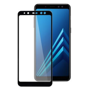 Melkco 3D Curvy 9H Tempered Glass Screen Protector for Samsung Galaxy A8 (2018) - (Black)
