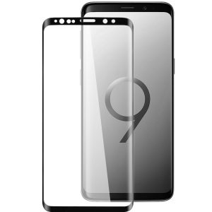 Melkco 3D Curvy 9H Tempered Glass Screen Protector for Samsung Galaxy S9 - (Black)