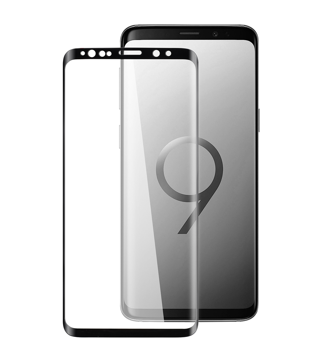 huge discount 284bf 591d6 3D Curvy 9H Tempered Glass Screen Protector for Samsung Galaxy S9 Plus -  (Black)