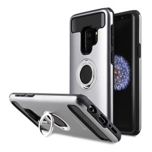Melkco Aegis Defense with Ring Stand Function Case for Samsung Galaxy S9 - (Black / Grey)