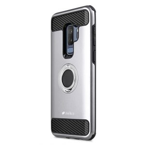 Melkco Aegis Defense with Ring Stand Function Case for Samsung Galaxy S9 Plus - (Black / Grey)