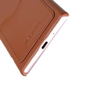 Melkco Premium Leather Card Slot Cover Case for Sony Xperia XZ1 Compact – (Brown CH) Ver.2