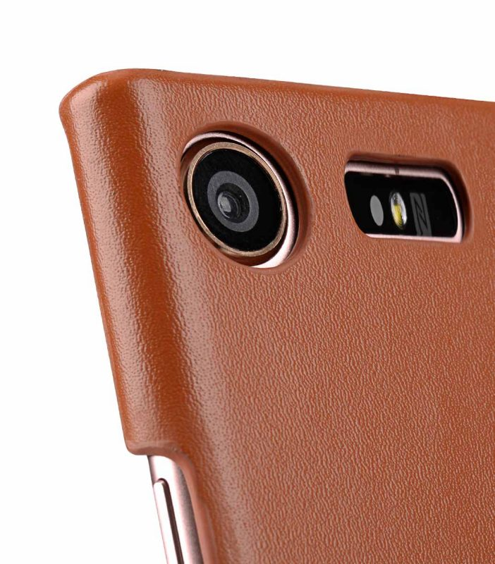 Melkco Premium Leather Card Slot Cover Case for Sony Xperia XZ1 Compact - (Brown CH) Ver.2