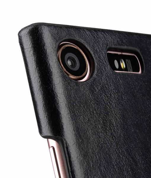Melkco Premium Leather Card Slot Cover Case for Sony Xperia XZ1 Compact - (Black LC) Ver.2