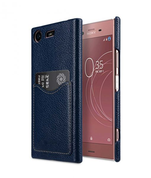 Melkco Premium Leather Card Slot Cover Case for Sony Xperia XZ1 Compact - (Dark Blue LC) Ver.2