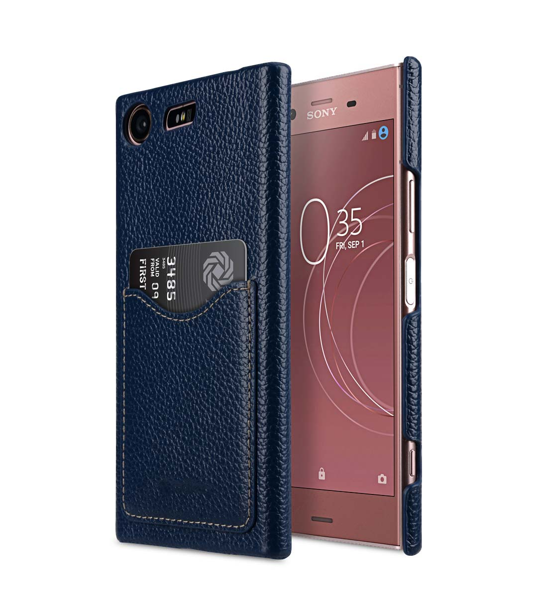 premium leather card slot cover case for sony xperia xz1. Black Bedroom Furniture Sets. Home Design Ideas