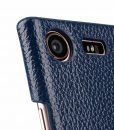 Melkco Premium Leather Card Slot Cover  Case for Sony Xperia XZ1 Compact – (Dark Blue LC) Ver.2