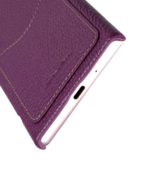 Melkco Premium Leather Card Slot Cover Case for Sony Xperia XZ1 Compact - (Purple LC) Ver.2