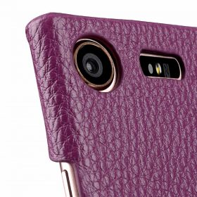Melkco Premium Leather Card Slot Cover Case for Sony Xperia XZ1 Compact – (Purple LC) Ver.2