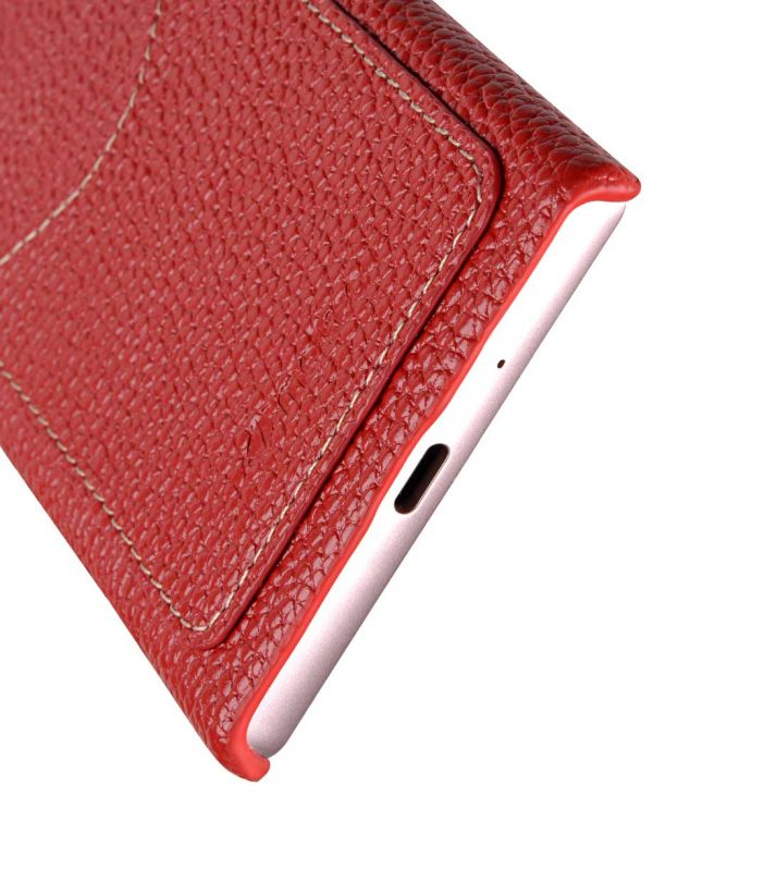 Melkco Premium Leather Card Slot Cover Case for Sony Xperia XZ1 Compact - (Red LC) Ver.2