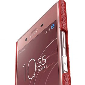 Melkco Premium Leather Card Slot Cover Case for Sony Xperia XZ1 Compact – (Red LC) Ver.2