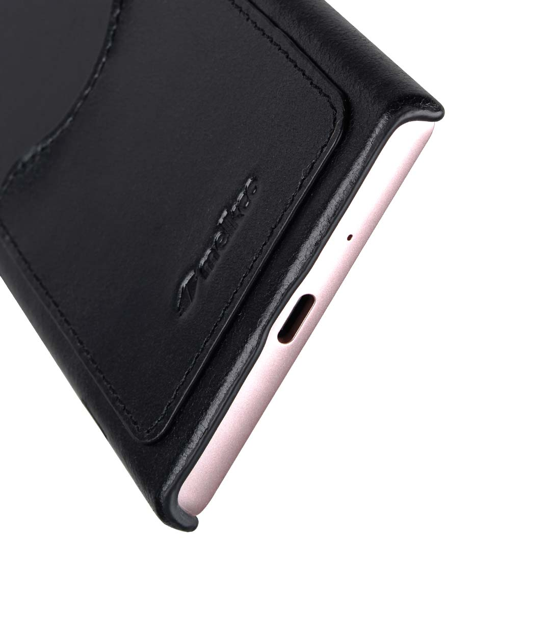 new products 8b8d9 5a3e4 Premium Leather Card Slot Cover Case for Sony Xperia XZ1 Compact