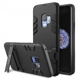 Melkco Element Defense with Stand function Case for Samsung Galaxy S9 - (Black)