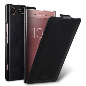 Melkco Premium Leather Case for Sony Xperia XZ1 Compact - Jacka Typ (Vintage Black)