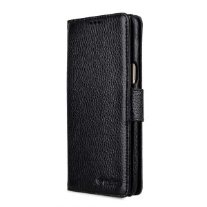 Melkco Premium Leather Case for Samsung Galaxy S9 - Wallet Book Type (Black LC)