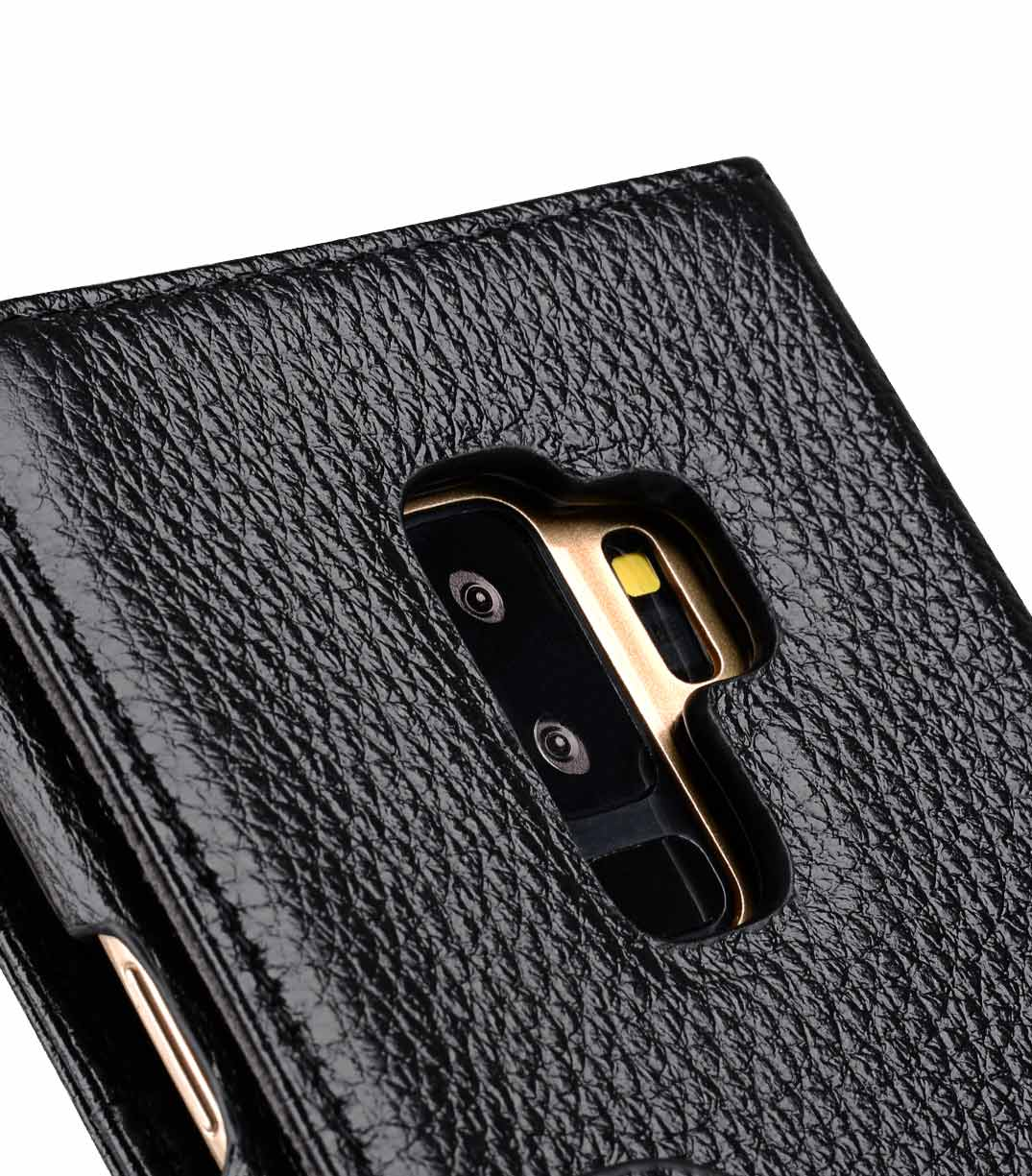 super popular 03aa8 46a3b Premium Leather e Case for Samsung Galaxy S9 Plus - Wallet Book Type (Black  LC)