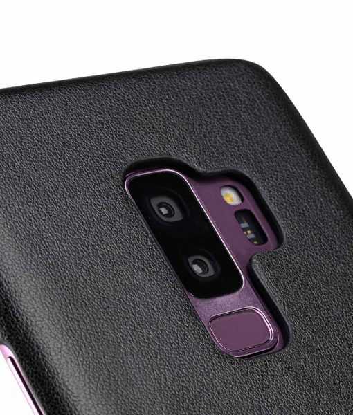 Melkco PU Leather Dual Card Slots Back Cover Case for Samsung Galaxy S9 Plus - (Black)