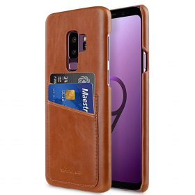Melkco PU Leather Dual Card Slots Back Cover Case for Samsung Galaxy S9 Plus – (Brown)