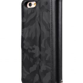 "Melkco Camo Semi Series Camo Leather Case for Apple iPhone 6s Plus / 6 Plus (5.5"") (Black)"