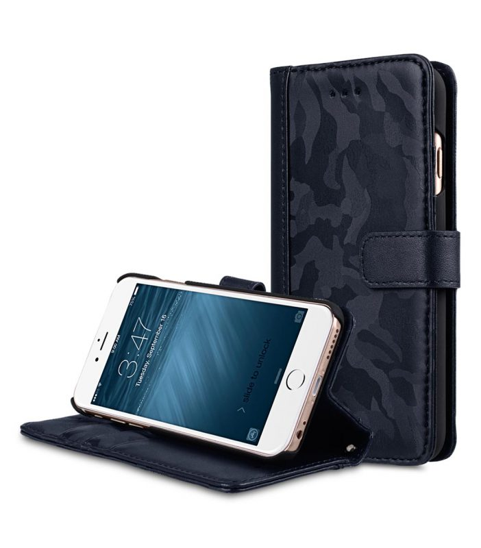 "Melkco Camo Semi Series Camo Leather Case for Apple iPhone 6s / 6 Plus (5.5"") (Navy)"