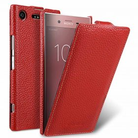 Melkco Premium Leather Case for Sony Xperia XZ1 – Jacka Type (Red LC)
