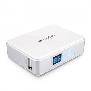 Melkco Power Bank Mini 5200 for Smartphones, Cellphones, iPhone and Gadgets - 5200mAh (White)