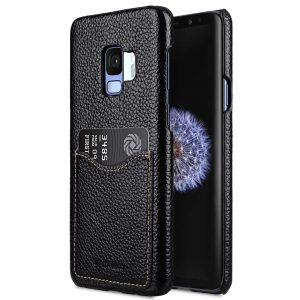 Premium Leather Card Slot Back Case for Samsung Galaxy S9