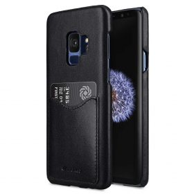 Melkco Premium Leather Card Slot Back Case for Samsung Galaxy S9 – (Black)Ver.2