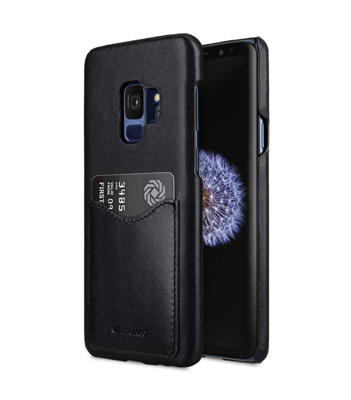 Melkco Premium Leather Card Slot Back Case for Samsung Galaxy S9 - (Black)Ver.2