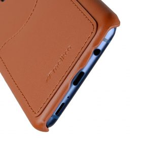 Melkco Premium Leather Card Slot Back Case for Samsung Galaxy S9 – (Brown CH)Ver.2