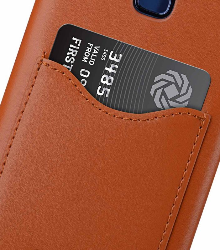 Melkco Premium Leather Card Slot Back Case for Samsung Galaxy S9 - (Brown CH)Ver.2
