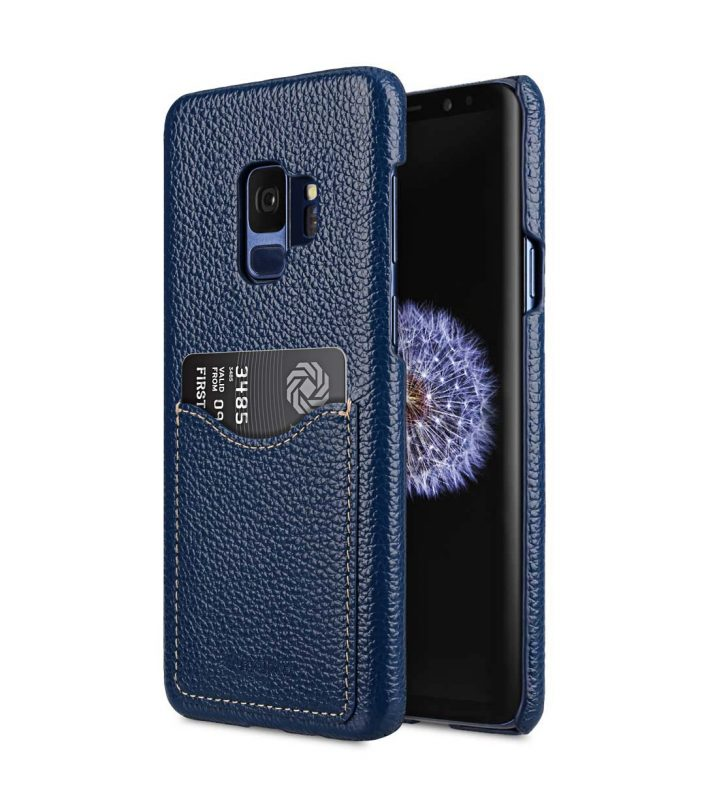 Melkco Premium Leather Card Slot Back Case for Samsung Galaxy S9 - (Dark Blue LC)Ver.2