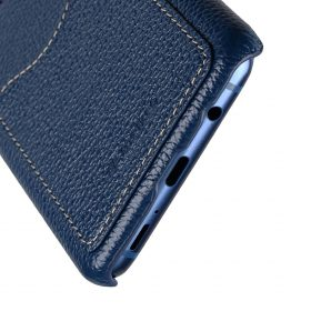 Melkco Premium Leather Card Slot Back Case for Samsung Galaxy S9 – (Dark Blue LC)Ver.2
