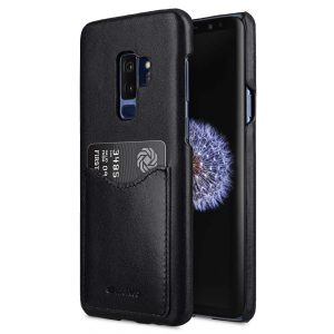 Premium Leather Card Slot Back Case for Samsung Galaxy S9 Plus