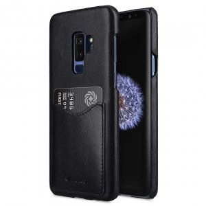 Melkco Premium Leather Card Slot Back Case for Samsung Galaxy S9 Plus - (Black)Ver.2