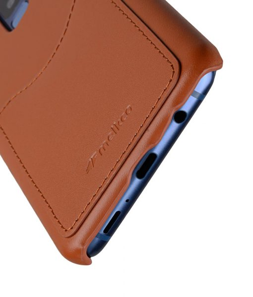 Melkco Premium Leather Card Slot Back Case for Samsung Galaxy S9 Plus - (Brown CH)Ver.2