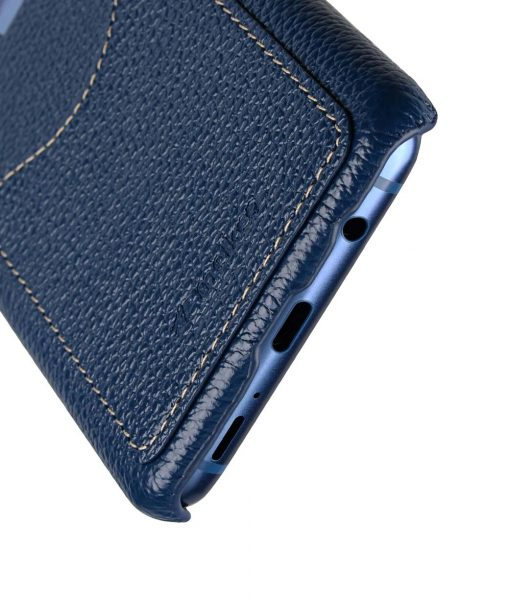 Melkco Premium Leather Card Slot Back Case for Samsung Galaxy S9 Plus - (Dark Blue LC)Ver.2
