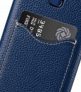 Melkco Premium Leather Card Slot Back Case for Samsung Galaxy S9 Plus – (Dark Blue LC)Ver.2